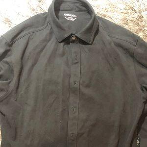 UNTUCKIT Long Sleeve  Oxford Button Shirt Black L
